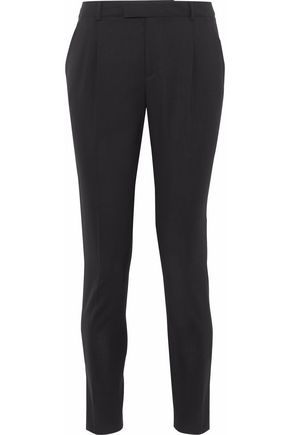 REDValentino Cropped stretch-wool skinny pants