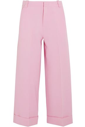 ROLAND MOURET Rew cropped wool-crepe wide-leg pants