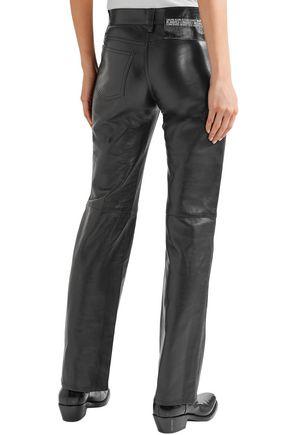 CALVIN KLEIN 205W39NYC Leather straight-leg pants
