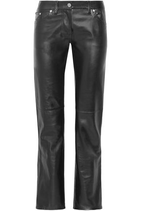 CALVIN KLEIN 205W39NYC Leather straight-leg pants
