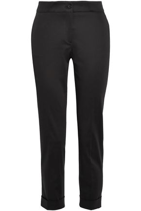 ETRO Cropped poplin straight-leg pants