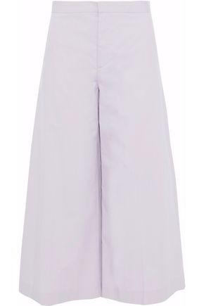 REDValentino Cropped stretch-cotton poplin wide-leg pants