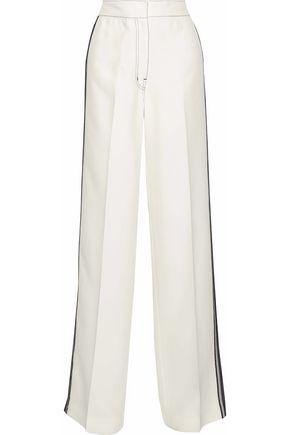 DEREK LAM Lace-trimmed cady wide-leg pants