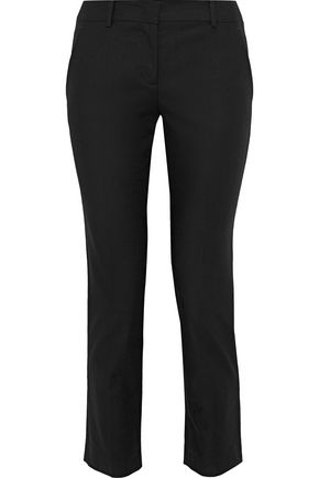 REDValentino Cropped cotton-blend slim-leg pants