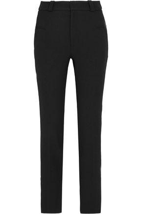 ROLAND MOURET Lacerta crepe straight-leg pants