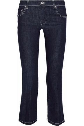 REDValentino Cropped mid-rise bootcut jeans