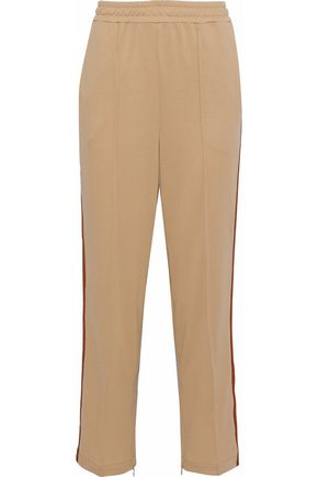 GANNI Dubois Polo striped stretch-knit straight-leg pants