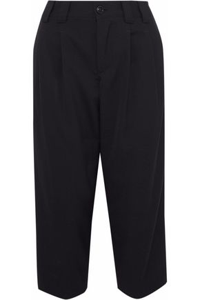 REDValentino Cropped woven straight-leg pants