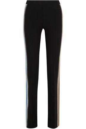 MISSONI Intarsia wool-blend straight-leg pants