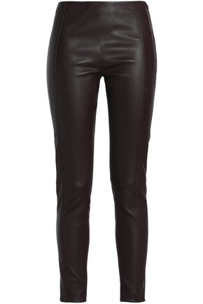 JOSEPH Leather slim-leg pants