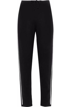 IRIS & INK Jodie brushed-cashmere track pants