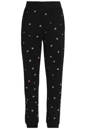 CHRISTOPHER KANE Glittered cotton track pants