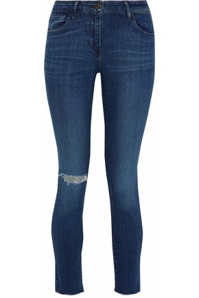 3x1 Midway distressed mid-rise skinny jeans