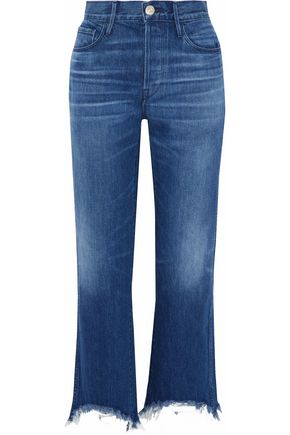 3x1 Austin frayed high-rise bootcut jeans