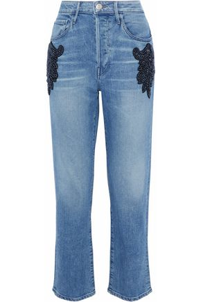 3x1 Burke embellished high-rise boyfriend jeans