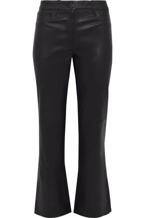 3x1 W25 leather kick-flare pants