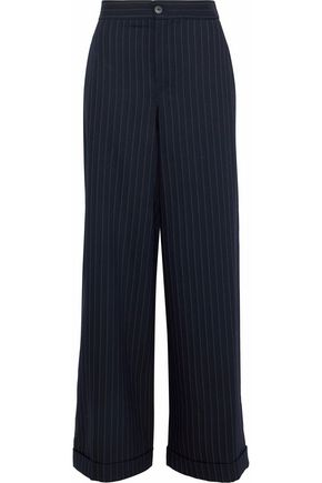 J.W.ANDERSON Pinstriped wool-blend wide-leg pants