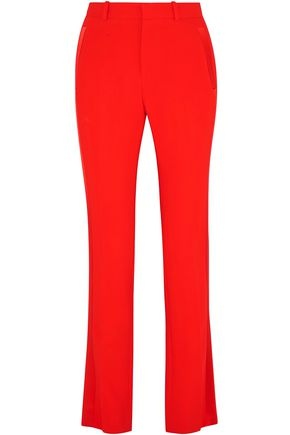 GIVENCHY Silk satin-trimmed crepe straight-leg pants