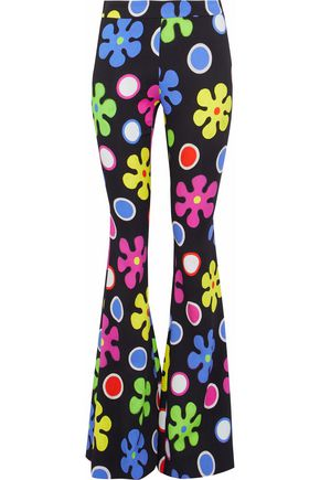 MOSCHINO Printed crepe flared pants