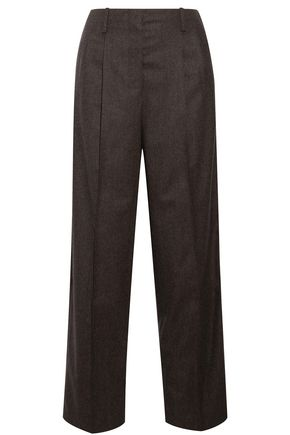 THE ROW Firth wool-blend felt wide-leg pants