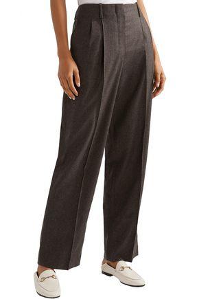 THE ROW Firth wool-blend felt wide-leg pants