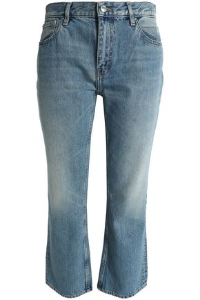 IRO Cropped mid-rise straight-leg jeans