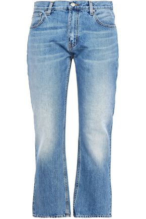 IRO Faded high-rise bootcut jeans