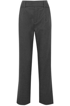SAINT LAURENT Belted wool straight-leg pants