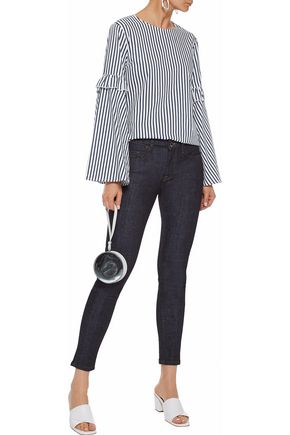 VICTORIA, VICTORIA BECKHAM Cropped mid-rise skinny jeans