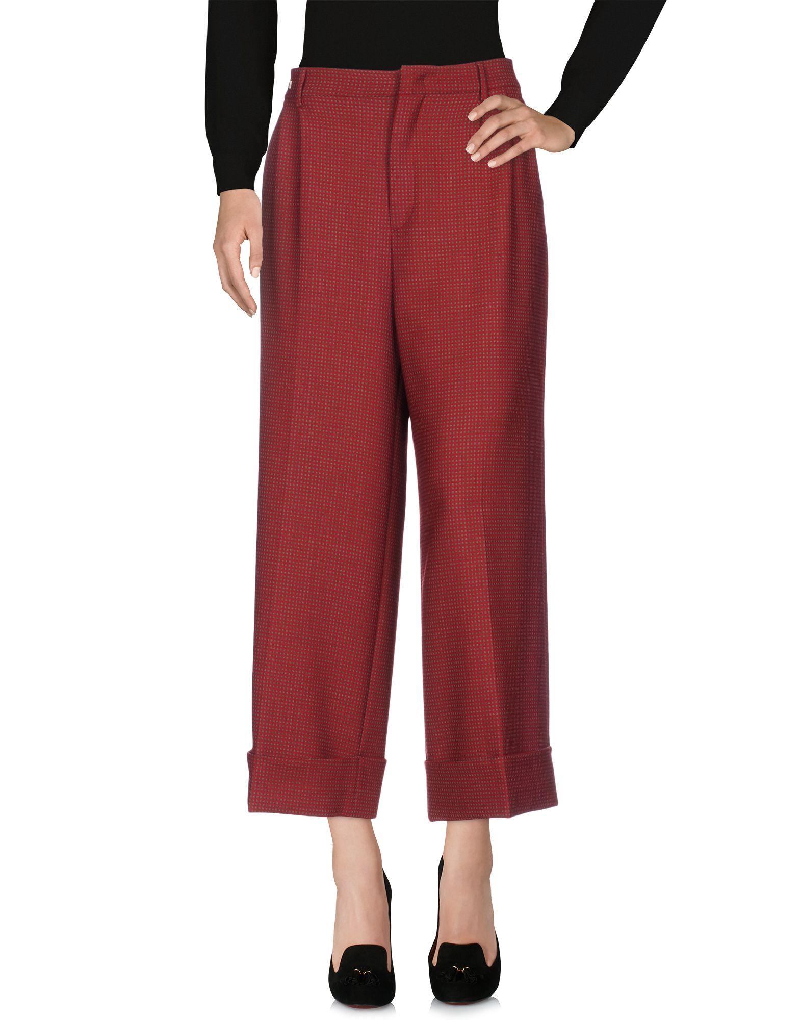 BERWICH Повседневные брюки брюки широкие с принтом в клетку виши