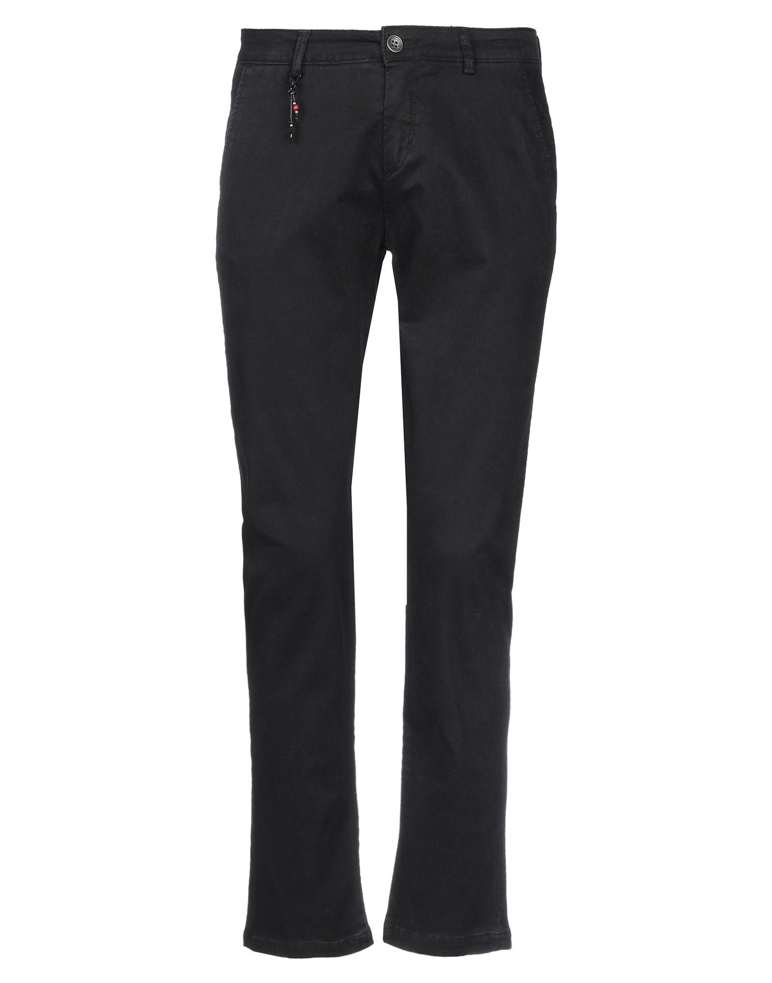 《セール開催中》YAN SIMMON メンズ パンツ ブラック 34 コットン 98% / ポリウレタン 2%