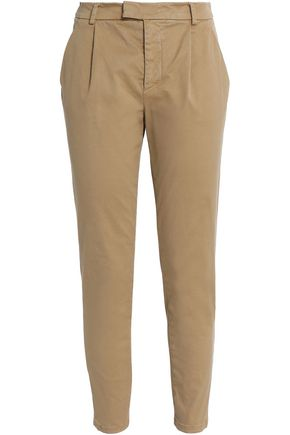 REDValentino Cropped cotton-blend gabardine slim-leg pants