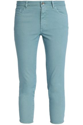REDValentino Cropped mid-rise skinny jeans