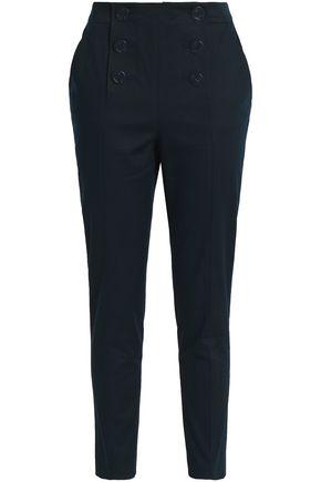 REDValentino Cotton-blend twill slim-leg pants