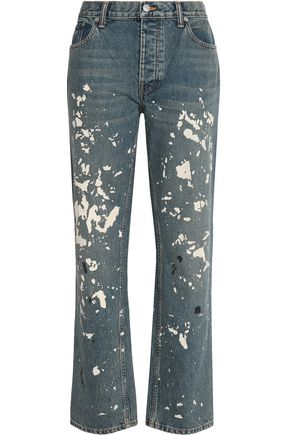 HELMUT LANG Painted high-rise boyfriend jeans