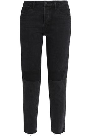 HELMUT LANG Cropped high-rise slim-leg jeans