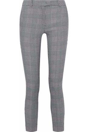 IRIS & INK Goldie Prince of Wales checked woven skinny pants