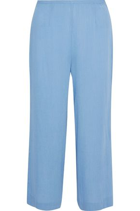 STAUD x SOLID & STRIPED + STAUD The Ipanema cropped gauze wide-leg pants
