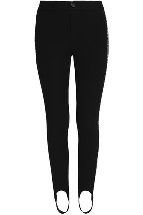 HELMUT LANG Stretch-knit slim-leg stirrup pants