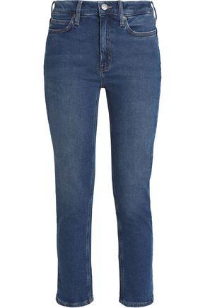 M.I.H JEANS Niki cropped high-rise slim-leg jeans
