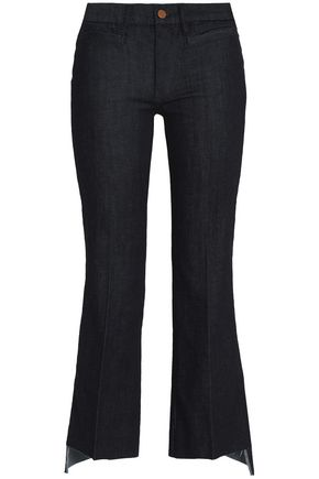 M.I.H JEANS Marrakesh frayed mid-rise kick-flare jeans