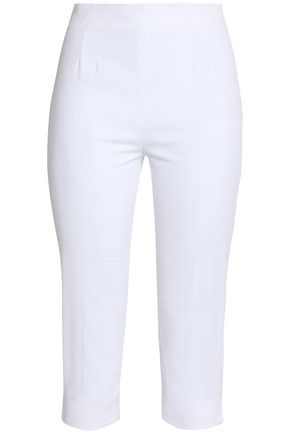 REDValentino Cropped cotton-blend piqué tapered pants