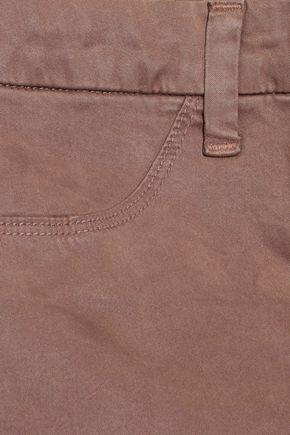 J BRAND Anja cropped Tencel-blend brushed-twill skinny pants