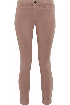 J BRAND Anja cropped Tencel-blend brushed-twill skinny pants