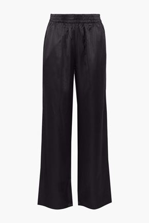 J BRAND Arden modal and silk-blend sateen wide-leg pants