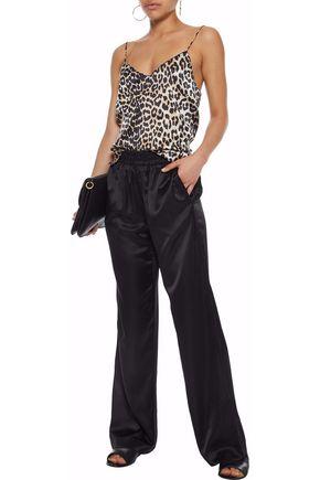J BRAND Arden modal and silk-blend sateen wide-leg pants