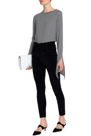 CURRENT/ELLIOTT Velvet skinny-leg pants
