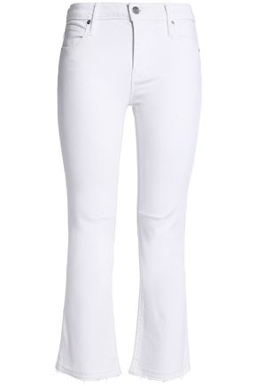 RTA Cropped mid-rise kick flare jeans