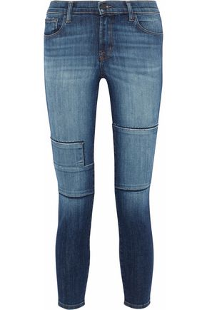 J BRAND Jasper patchwork mid-rise skinny jeans