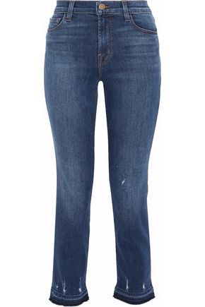 J BRAND Tonic cropped distressed high-rise skinny jeans